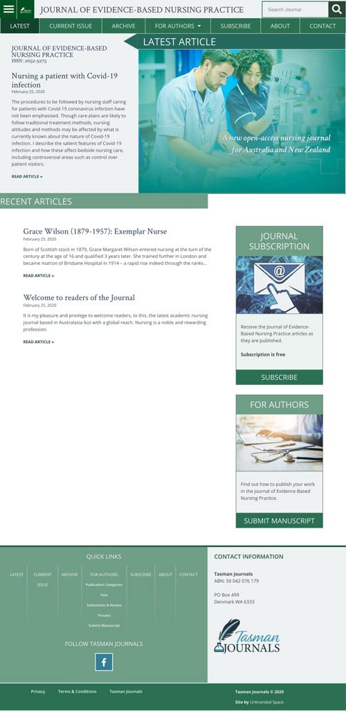 Journal of Evidence-Based Nursing Practice