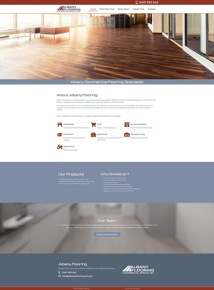 Albany Flooring Home page